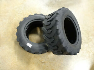 Two 23x8 50 12 Air loc H8501 R 4 Compact Tractor Tires Heavy Duty Indstrl 8 Ply