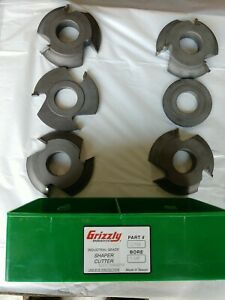 Used Grizzly Model C2184 Rail stile Passage Door6 Piece Shaper Cutter 11 4 Bore