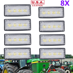 8x Re306510 Led Front Hood Light For John Deere Tractors Replace R161288 Re37450