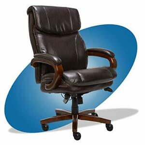 Trafford Big And Tall Executive Office With Air Chair Brown Bonded Leather