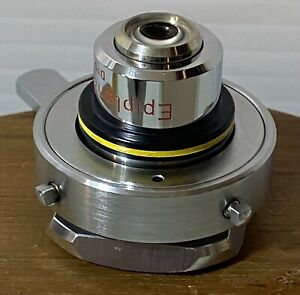 Zeiss Epiplan8 0 2 Pol Microscope Objective In Centering Ring For Iic