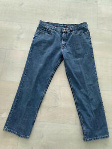 Lee Relaxed Fit Straight Leg Jeans Mens 38x30 Blue Wash Denim $12.00