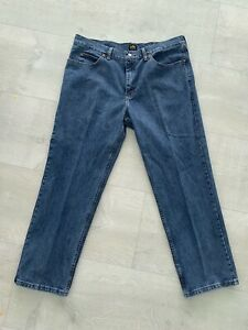 Lee Relaxed Fit Jeans Mens 38x30 Blue Wash Denim 100 Cotton $12.00