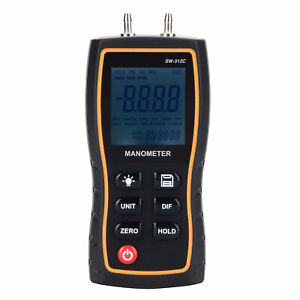 Sndway Digital Differential Manometer Handheld Air Gas Pressure For Home