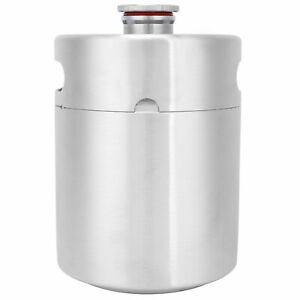 2l Beer Keg Mini Stainless Steel Beer Barrel With Spiral Lid For For Home