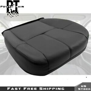 Leather Seat Cover Black For 2007 2013 Chevy Silverado 1500 2500 Driver Bottom