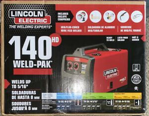 Lincoln Electric Mig Flux 140hd Wire Feed Welder Black red New Unopened