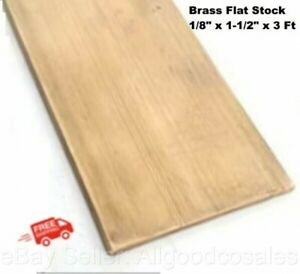 Brass Flat Stock 1 8 X 1 1 2 X 3 Ft Alloy 360 Mill 36 L Solid Rectangle Strip