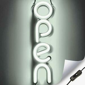 Vertical Led Neon Open Sign For Business Bright Led Open Sign With On Off