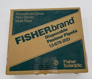 Fisherbrand Disposable Borosilicate Glass Pasteur Pipets 13 678 20d Box Of 360
