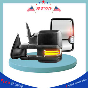 2towing Mirrors Power Heated Dynamic Signal For 99 02 Gmc Sierra 1500 2500 3500