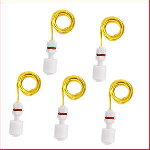 Liyafy 5 Pcs Right Angle White Plastic Pp Float Switch Fish Tank Liquid Water