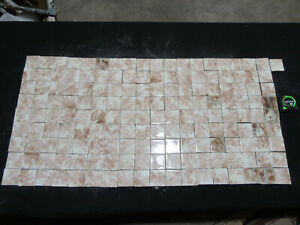 Lot Of 163 Antique Victorian Tiles 2 Square Architectural Salvage