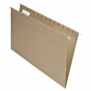Pendaflex Earthwise 100 Recycled Color Hanging File Folders Legal Natural 25 bx