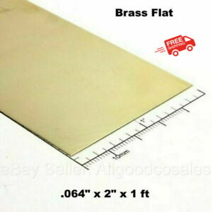 Brass Flat Stock 064 X 2 X 1 Ft 260 Solid Rectangle Strip 12 Length