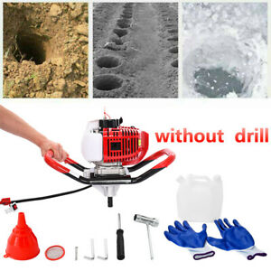 52cc 2 5hp Earth Auger Gas Powered Post Hole Digger Machine Power Engine Head
