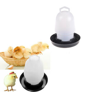 Automatic Pet Feeder Chicken Quail Poultry Bird Pheasant Feed Water Tool hu