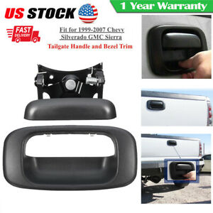 Tailgate Handle And Bezel Trim Kit Set Fit For 99 07 Chevy Silverado Gmc Sierra Fits More Than One Vehicle