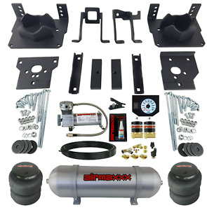Air Bag Tow Kit White Controls Compressor Tank For 2011 16 Ford F250 F350 2wd