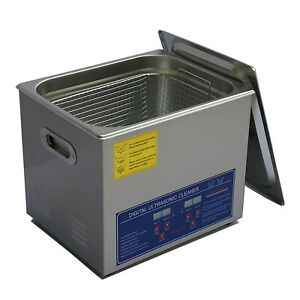 Stainless Steel 10l Digital Ultrasonic Cleaner With Drain Valve Basket Jps 40a