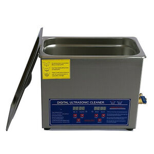 6l Stainless Steel Digital Ultrasonic Cleaner With Basket Washing Machine Jps 30