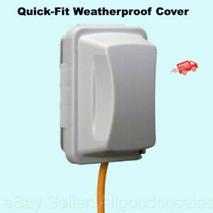 Weatherproof Cover Quick fit Gray Outdoor Electrical Box Duplex Outlet Protector