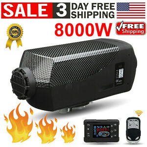 Air Diesel Heater Parking Fuel Heater 12v 8000w Truck Boat Bus Usa Stock New
