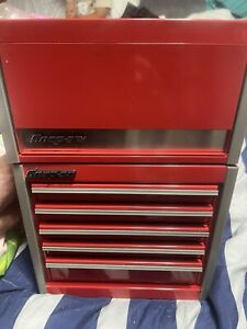 Snap On Micro Roll Cab Bottom Amp Top Chest Set Mini Tool Box Red Brand New