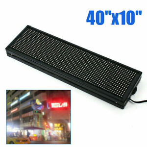 40 X 10 Full Color Semi outdoor 1 4 Duty Cycle Led Message Display Board Usa