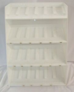 Store Fixture Supplies Acrylic Counter Top Display Rack 24 Compartments