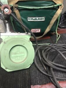 Mcelroy Pipe Fusion Iron Plate Heater 1400 Watt 120v With Bag Holder702002 8inc