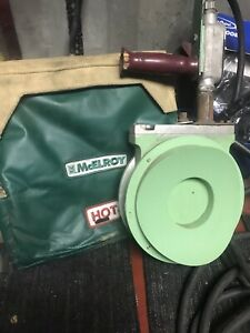 Mcelroy Pipe Fusion Iron Plate Heater 1400 Watt 120v With Bag 702002 8 Inch
