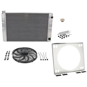 Universal Sbc Double Pass Radiator Kit Withelectric Fan 26 Inch