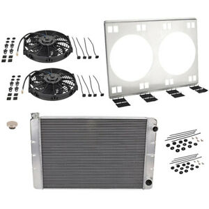 Universal Sbc Double Pass Radiator Kit Dual Electric Fans 31 In