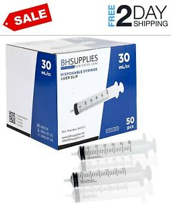 30ml Syringe Sterile With Luer Slip Tip 50 Syringes By Bh Supplies no Need