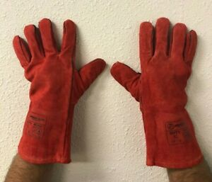 Armor Guys 06 058 Red Leather Welding Gloves