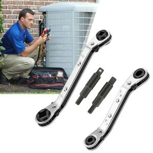 1 Set Refrigeration Hvac Service Wrench Adapter With Hex Bit 1 4 3 8 3 16 5 16in