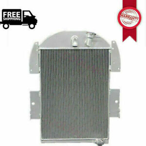 3 Row Aluminum Radiator For 1934 1935 1936 Chevy Pickup Truck 3 4l 6 Cyl Manual