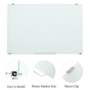 Glass Magnetic Whiteboard 35 X 24 Inch Dry Erase White Board Wall Hanging Board