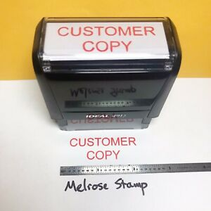 Customer Copy Rubber Stamp Red Ink Self Inking Ideal 4913