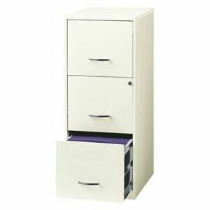 Space Solutions 20227 File Cabinet 18 Deep 3 Drawer white