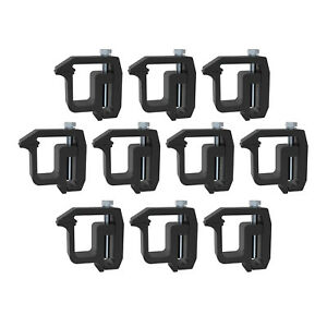 Mounting Clamps Truck Caps Camper Shell For Chevy More Pick Up Trucks Black