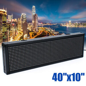 Full Color Sign Programmable Scrolling Advertisement Led Message Display Board