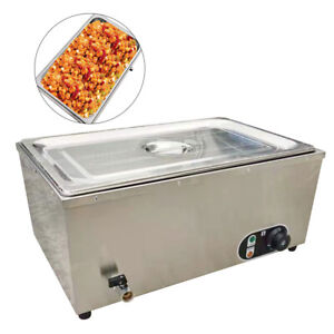 1 2kw Stainless Commercial Countertop Food Fast Warmer Steamer Buffet 30 110