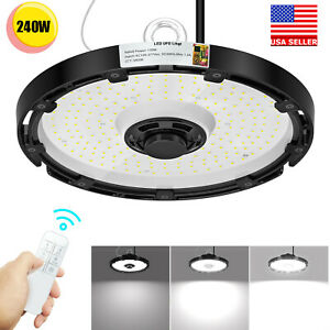 240w Ufo Led High Bay Light Wireless Dimmable Commercial Warehouse Light 5000k