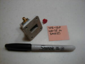 Wg 120 Wr 75 10 0 15 Ghz Waveguide To Type Sma f Adapter