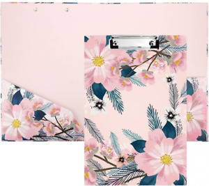 Pink Folder Clipboard With Storage A4 Letter Size Eco friendly