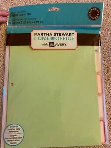 Martha Stewart Home Office With Avery Paper Dividers 5 tab 8 1 2 X 11