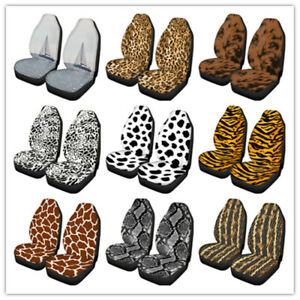 Auto Car Seat Protector Covers For Women Leopard Printed Front Seat Universal Us