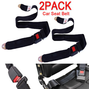 2pack Auto Car Seat Belts Safety Strap Lap Universal Truck Adjustable 2 Point